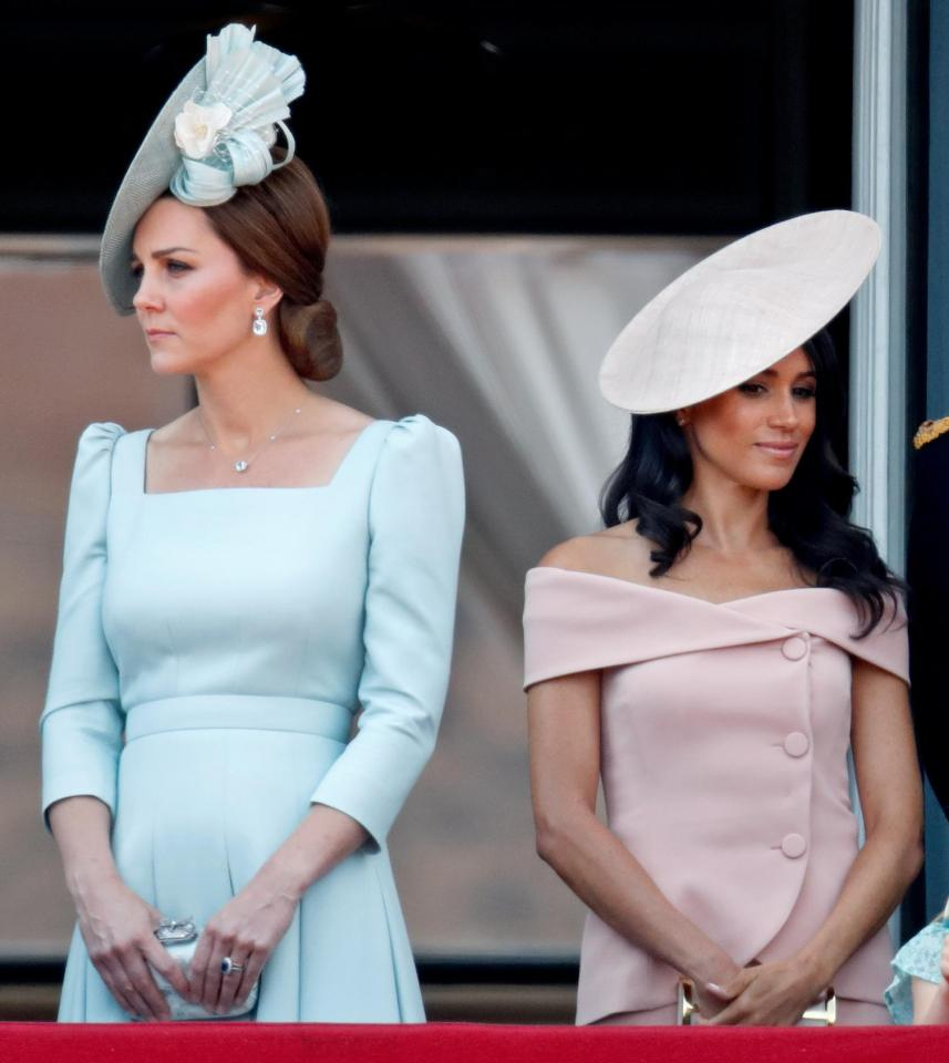 The frostiness between Kate and Meghan is clearly visible