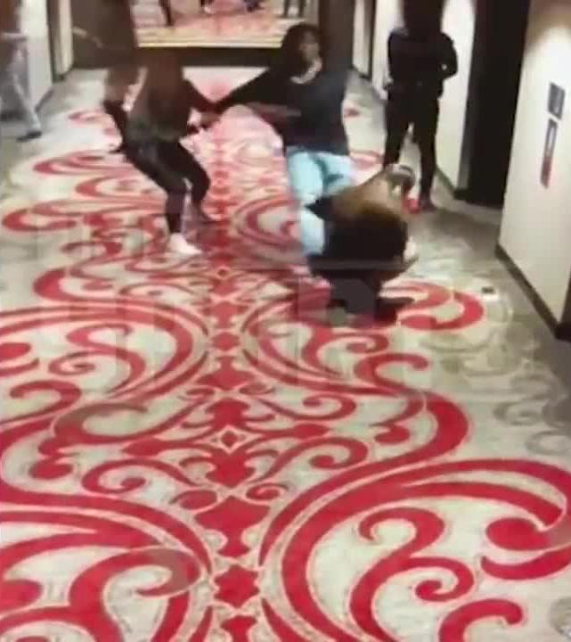 Kareem Hunt is recorded kicking a woman in a hotel