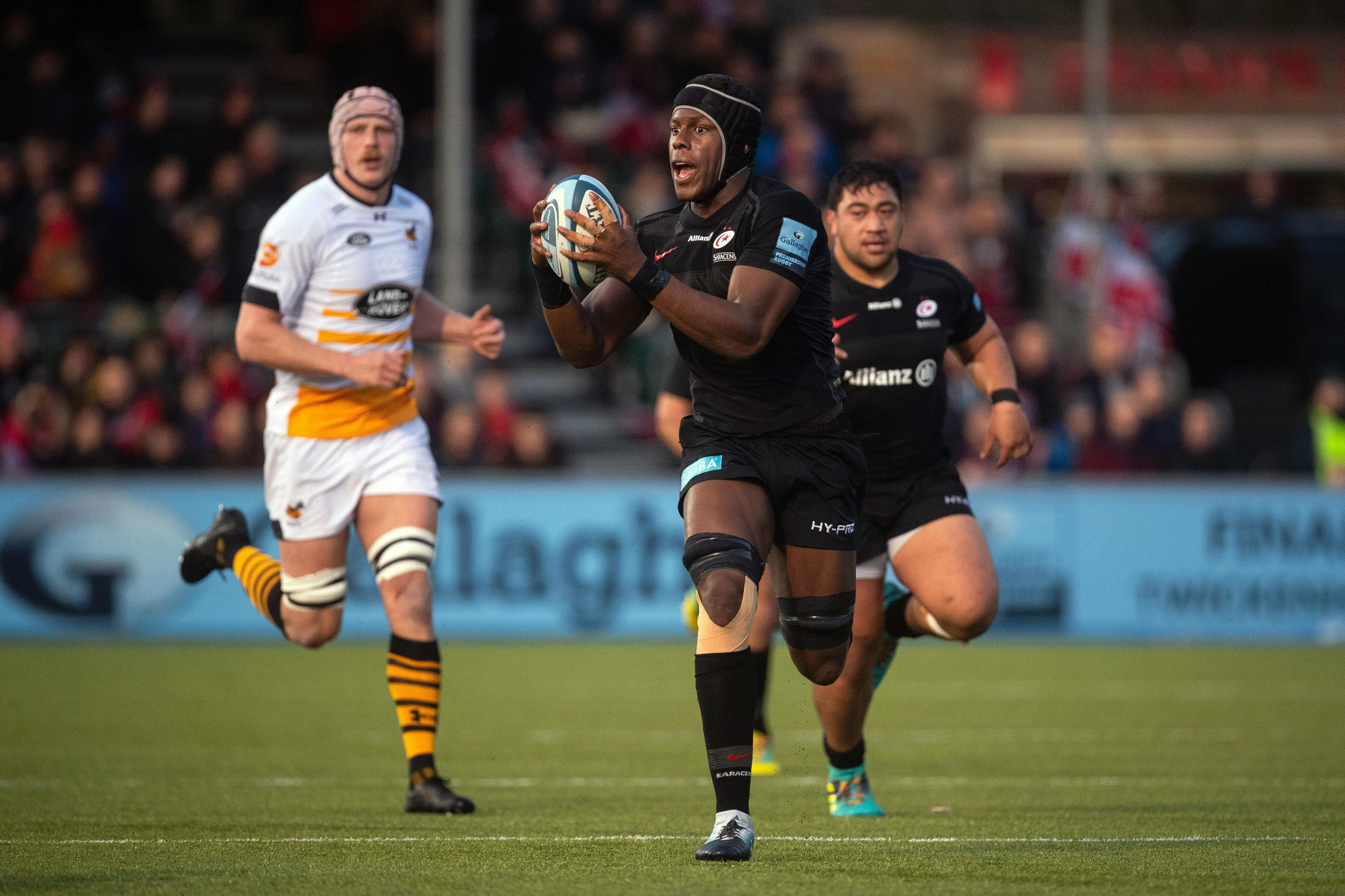Maro Itoje played through the pain for two games before giving in