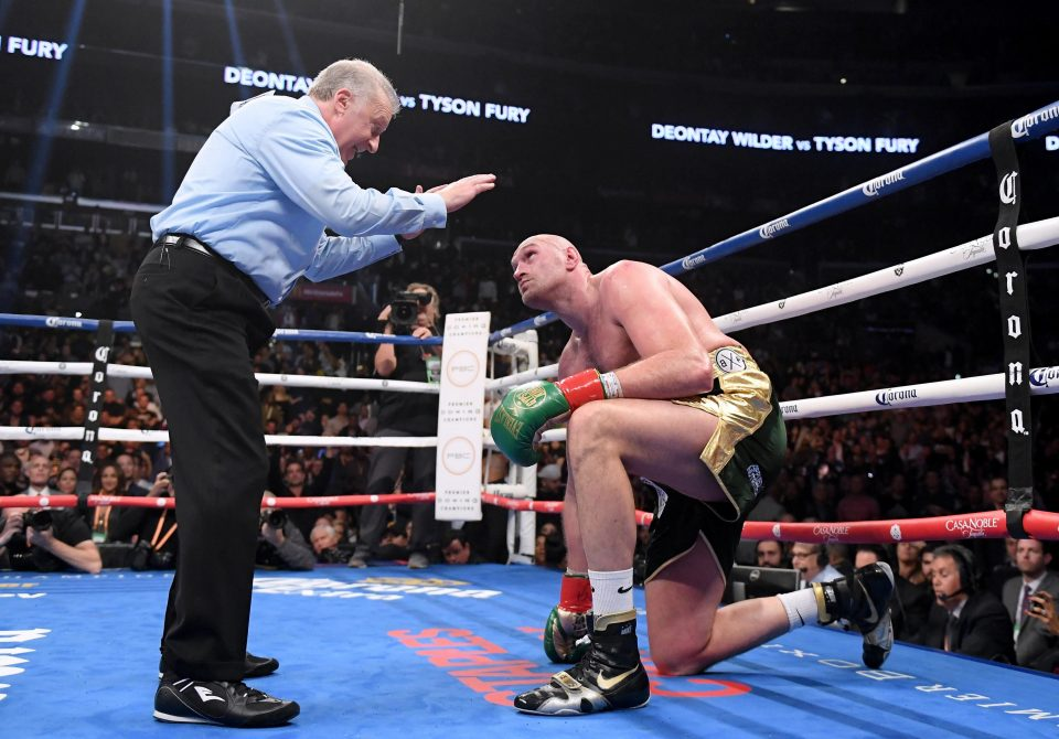 Fury, 30, suffered two knockdowns against Wilder at the Staples Center in Los Angeles