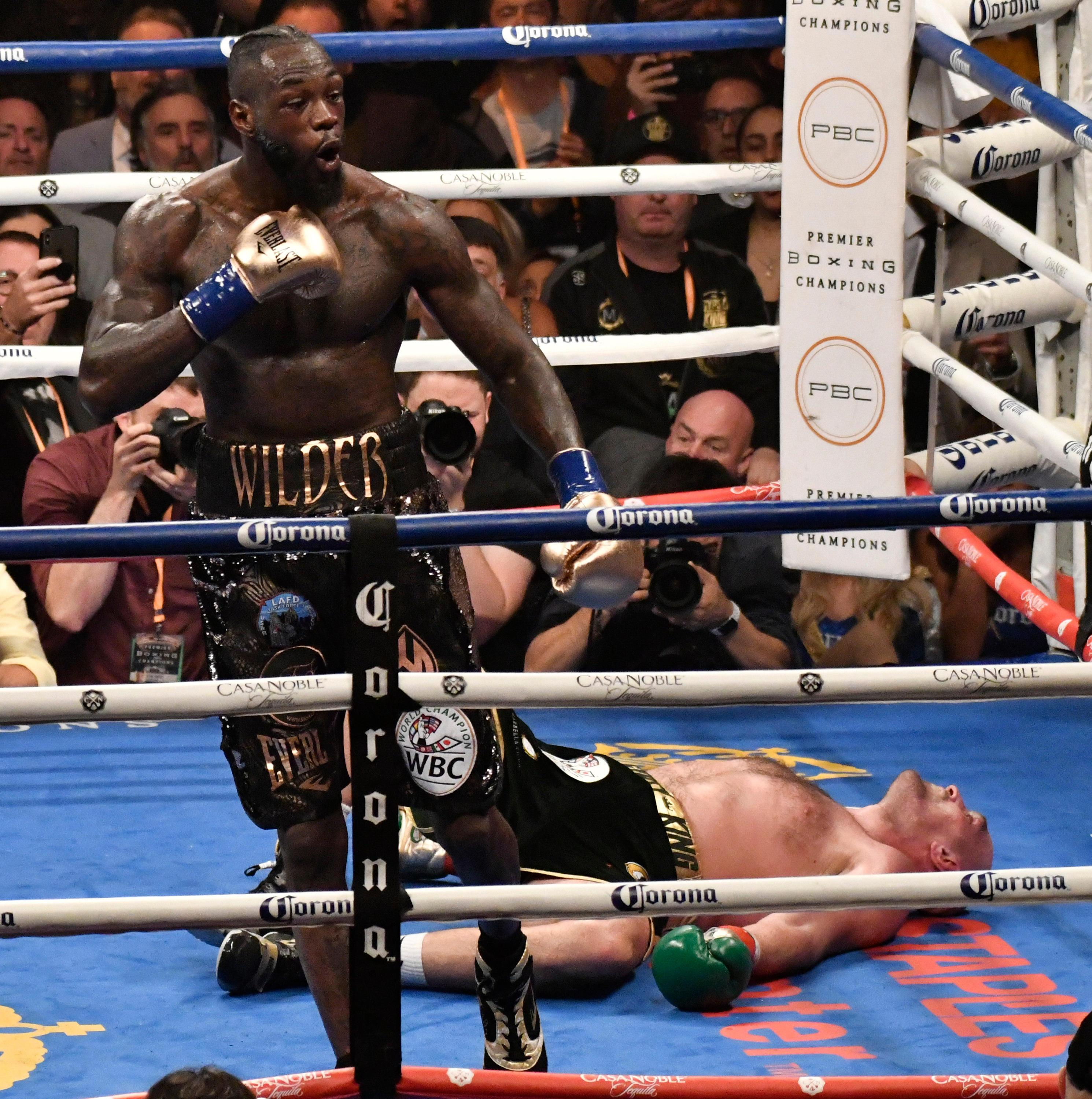 Wilder wanted a fight with the Brit