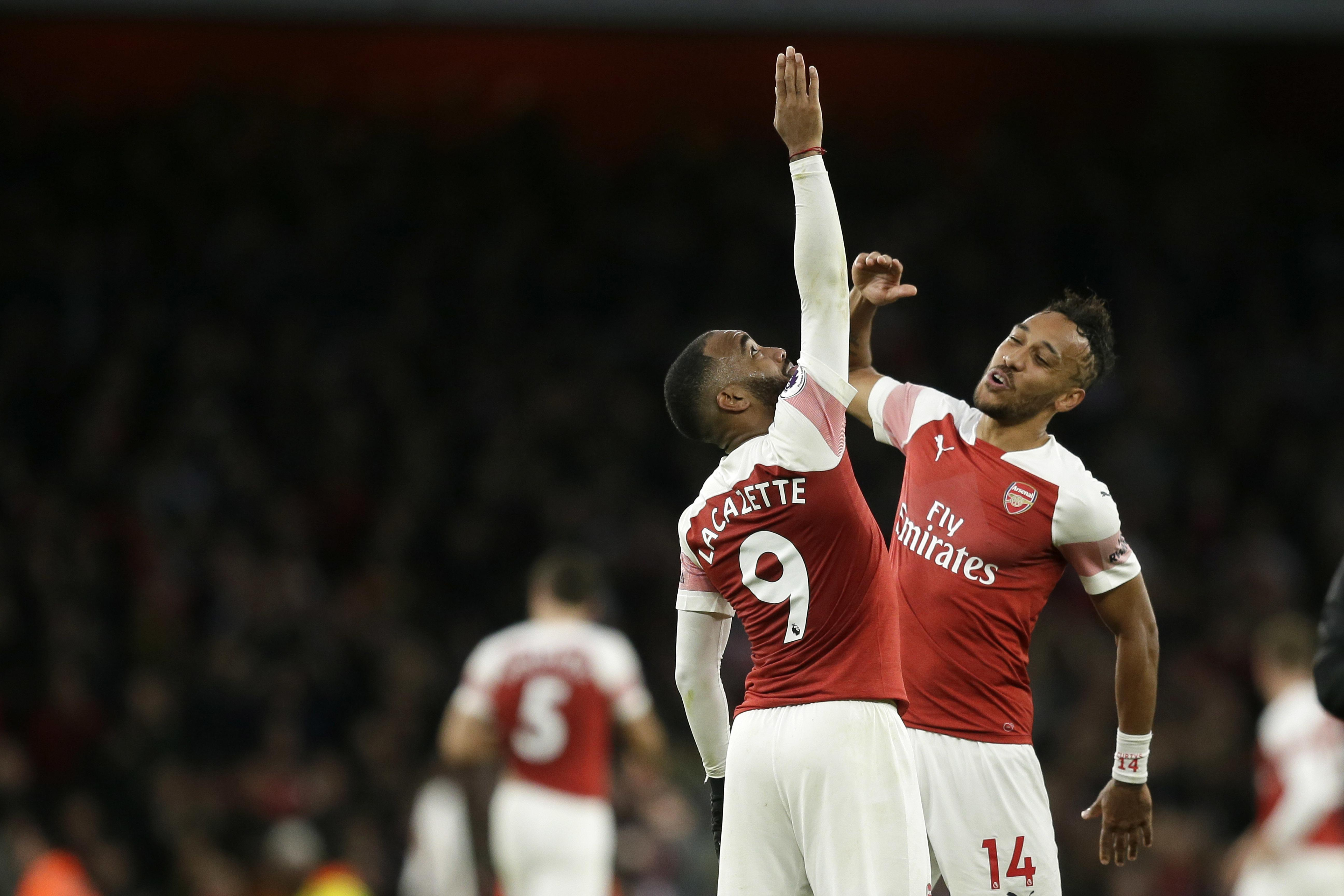 Lacazette and Aubameyang have been in fine form for the Gunners this season