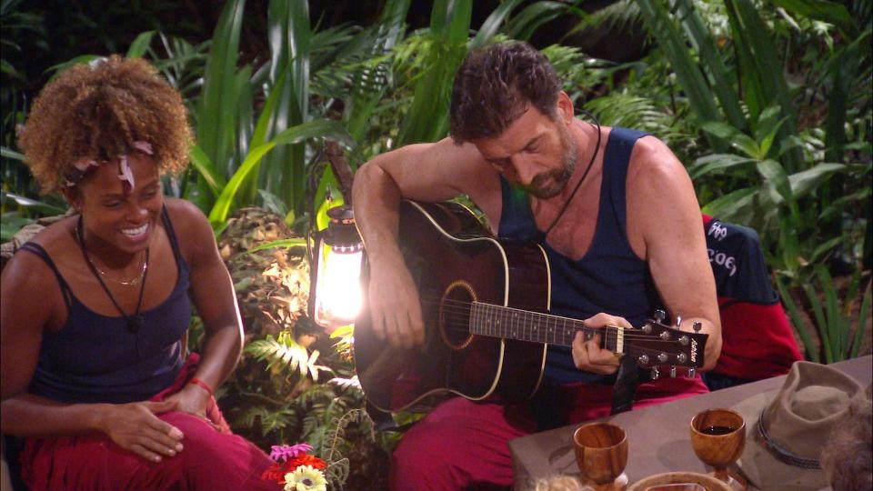 Nick Knowles treated his camp mates to a song on I'm A Celebrity