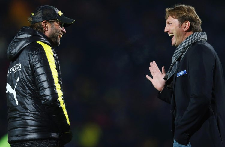Hasenhuettl spoke to the media for 40 minutes today but is not a big fan of his 'Klopp of the Alps' nickname