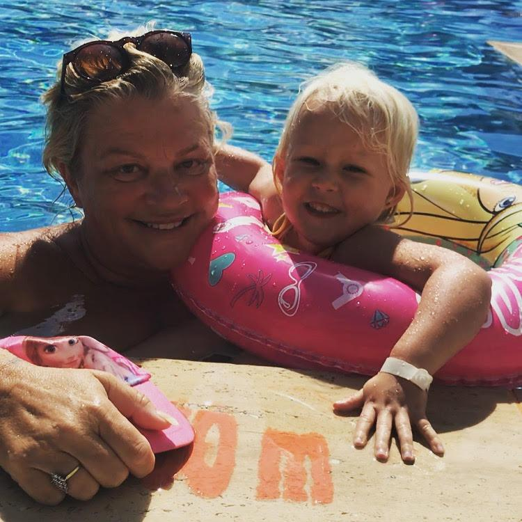 Marlana Ellis treated daughter Freja to a black henna tattoo while on holiday in Turkey