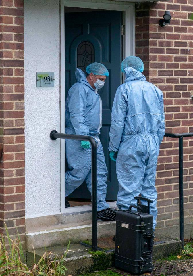 Forensic police have examined the home of Maureen Whale as part of their investigations