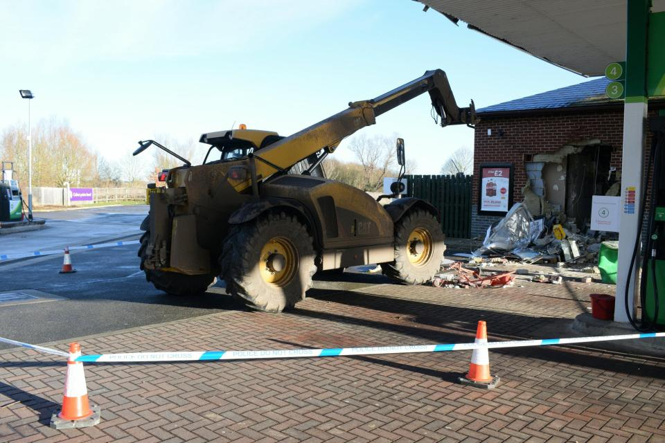 The gang used a digger to carry out one of the raids