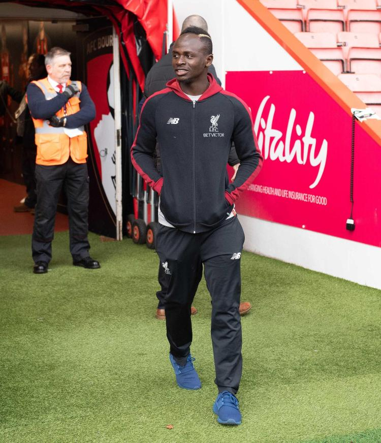 The Senegal star starts on the bench for the Reds with Mohamed Salah, Roberto Firmino and Xherdan Shaqiri up front