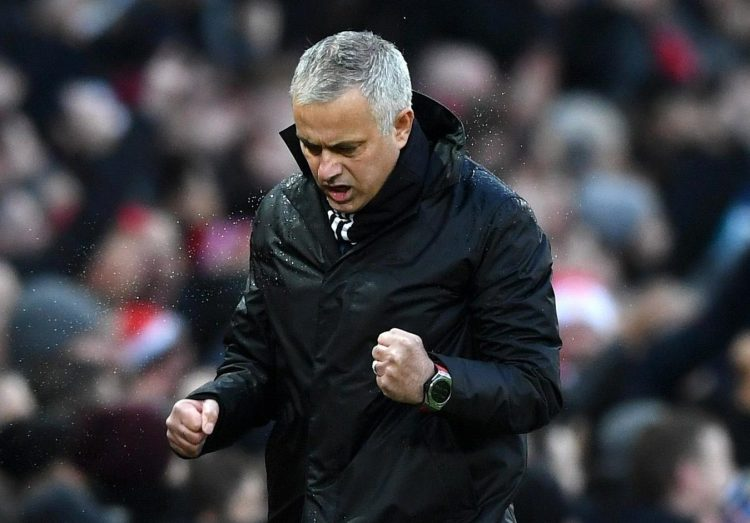 Jose Mourinho looked extremely relieved to get a win