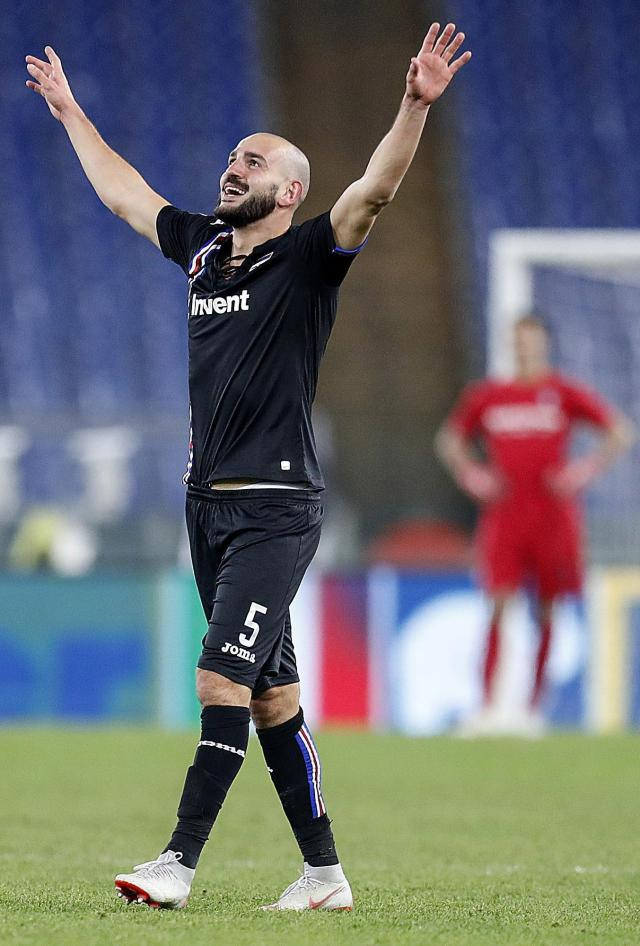 Ricky Saponara was Sampdoria's hero as he scored in the 99th-minute