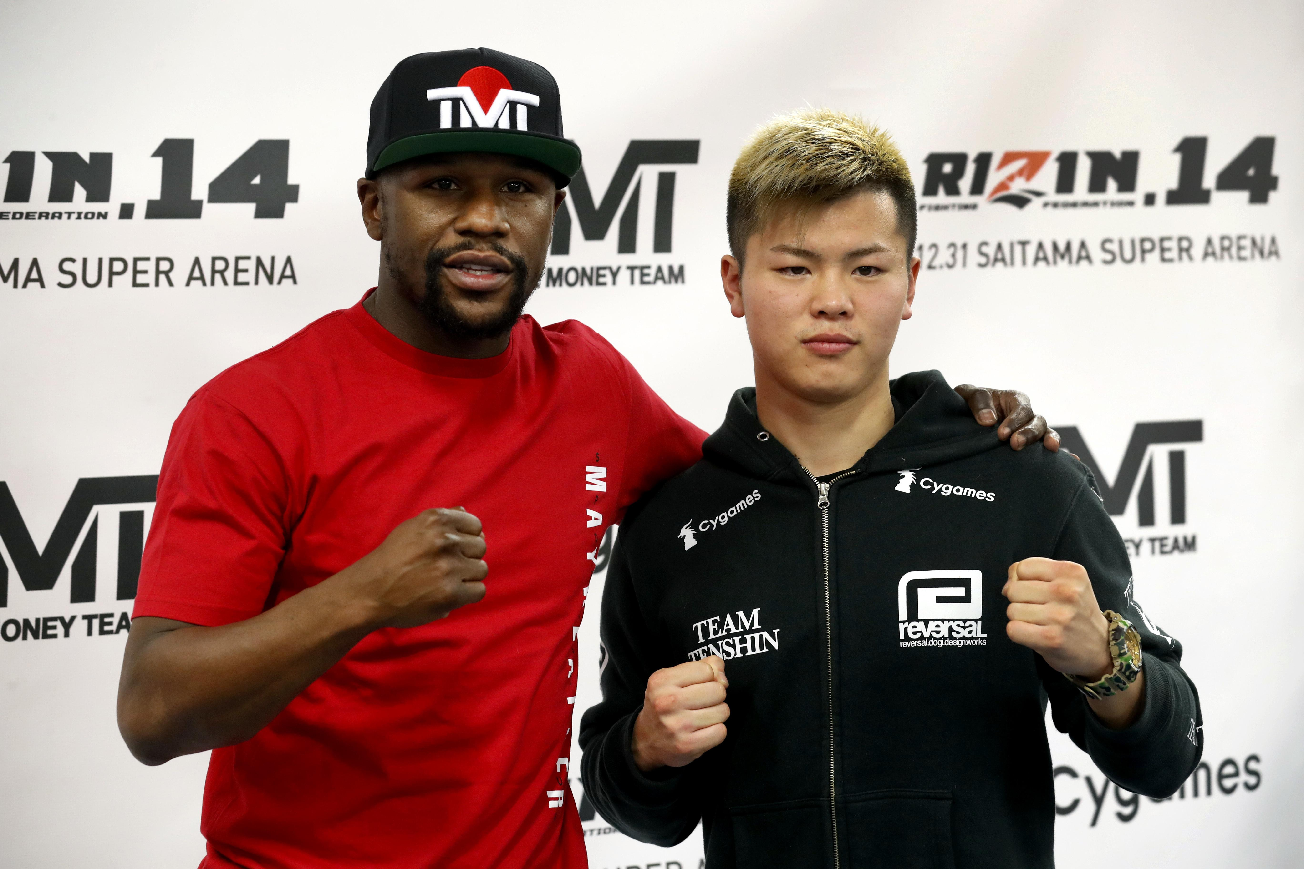 Mayweather is set to fight Tenshin Naksukawa in a three-round exhibition boxing fight
