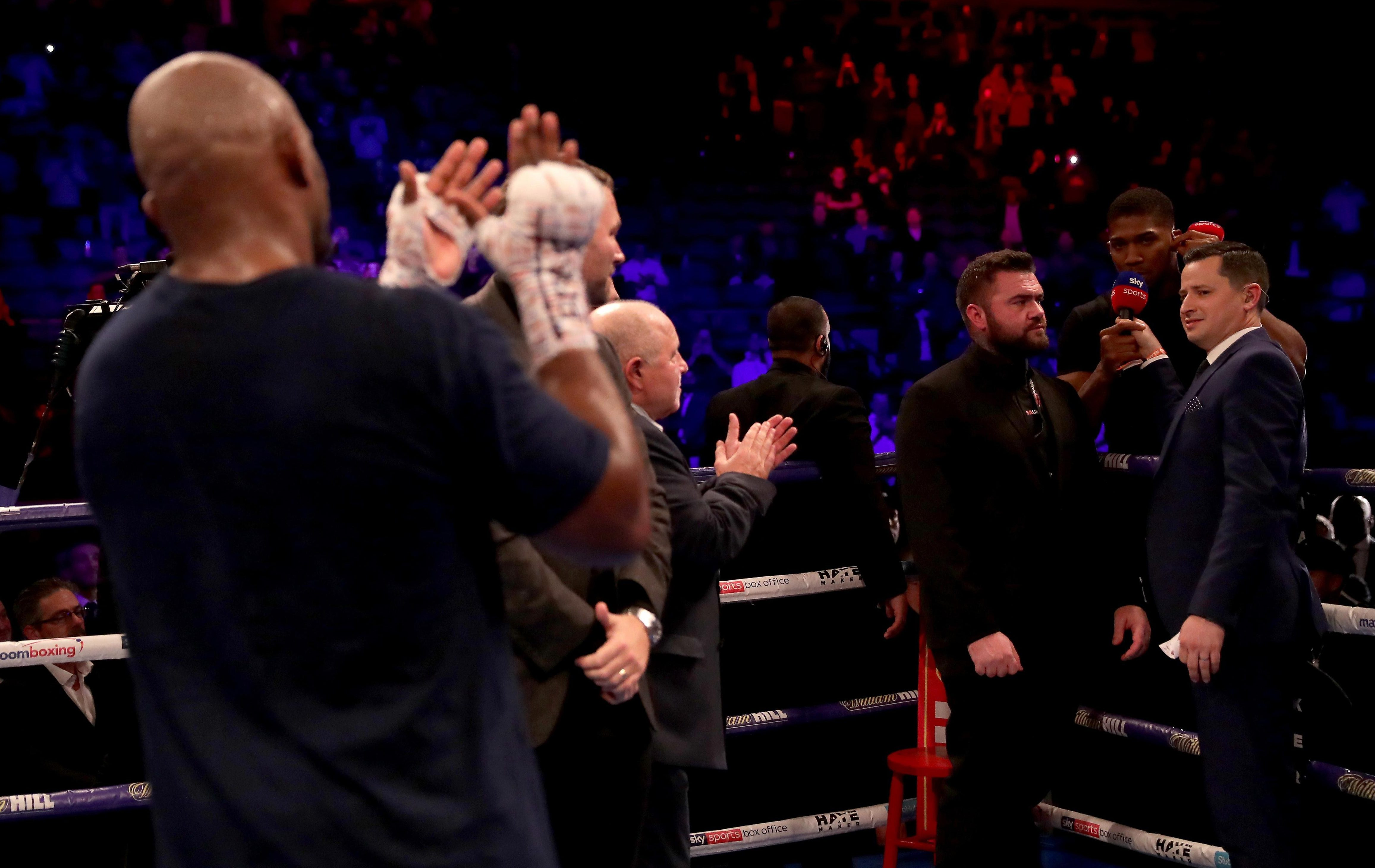 Dillian Whyte called out Anthony Joshua after the win over Dereck Chisora