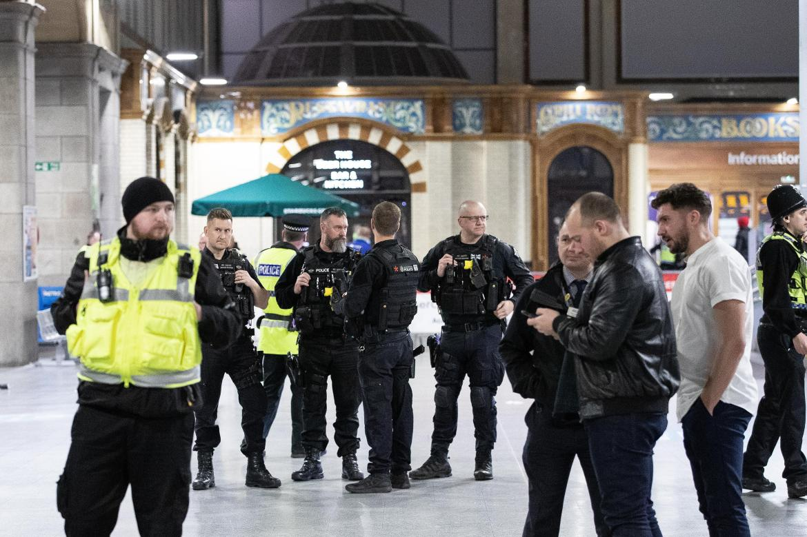 Manchester Victoria Station was on lockdown after a man was detained for stabbing three people