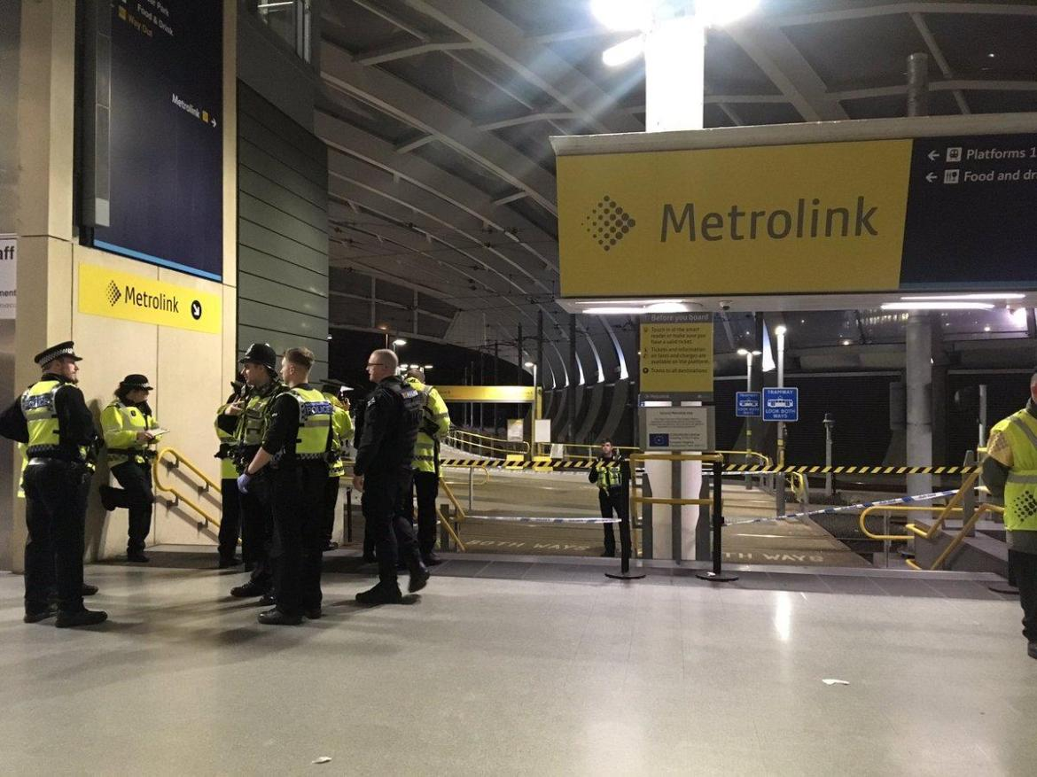 The triple stabbing happened at Manchester Victoria station just before 9pm