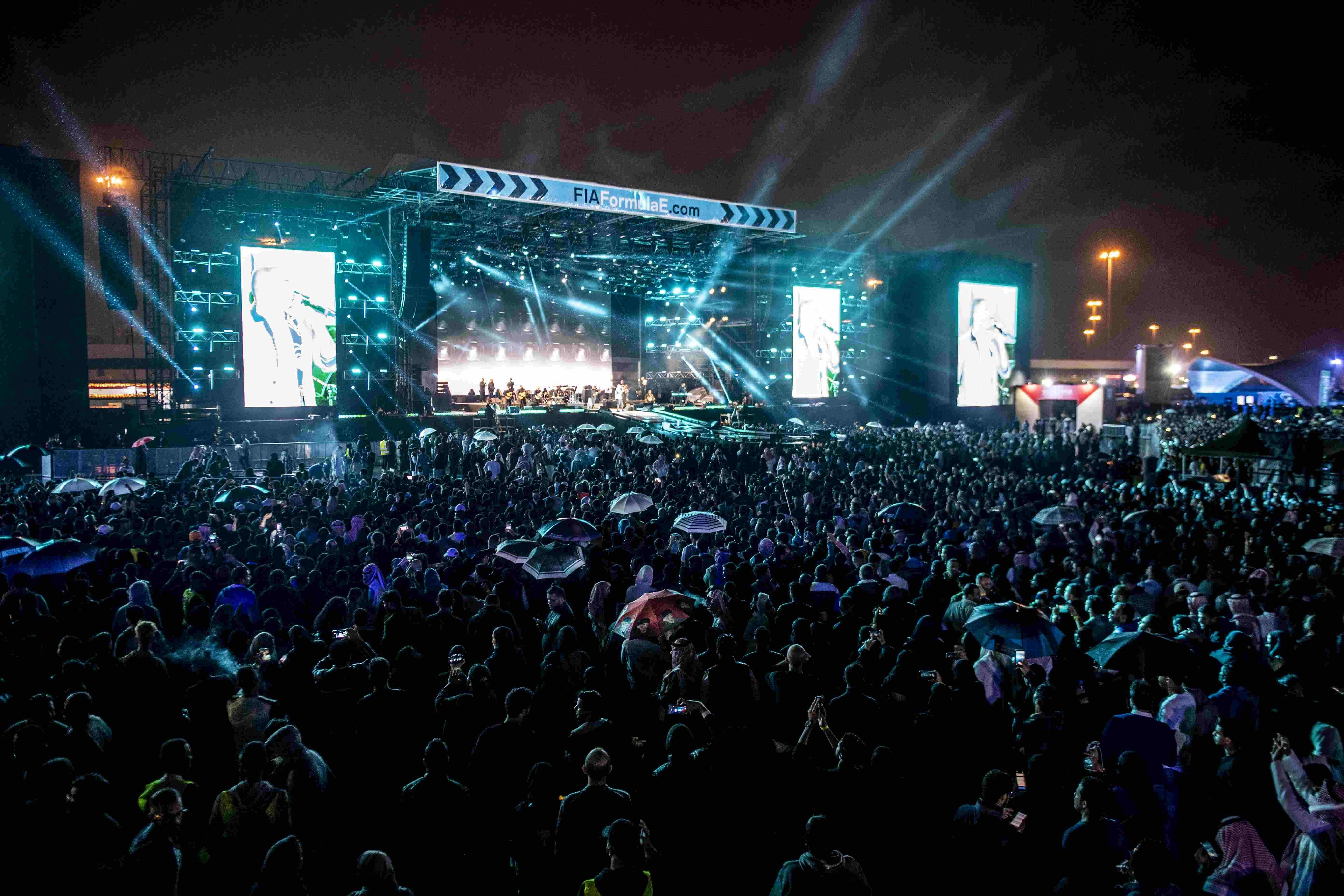 Harnessing the power of both motor sport and music, Formula E brought fans together for one big celebration in the Saudi capital