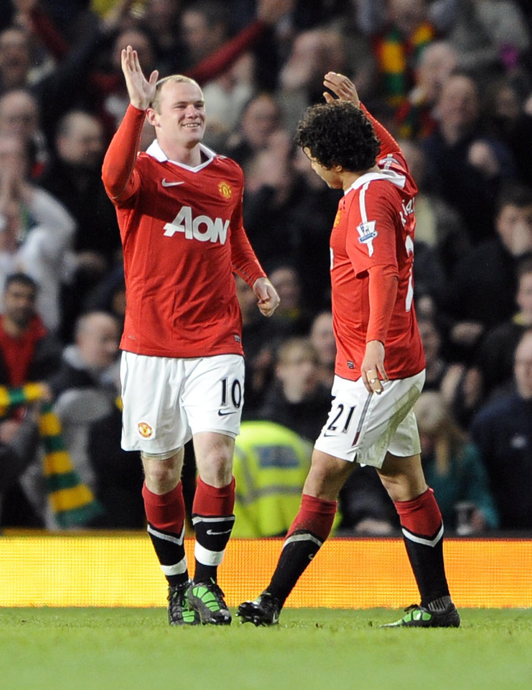Wayne Rooney and Fabio scored as United beat Arsenal 2-0 that day