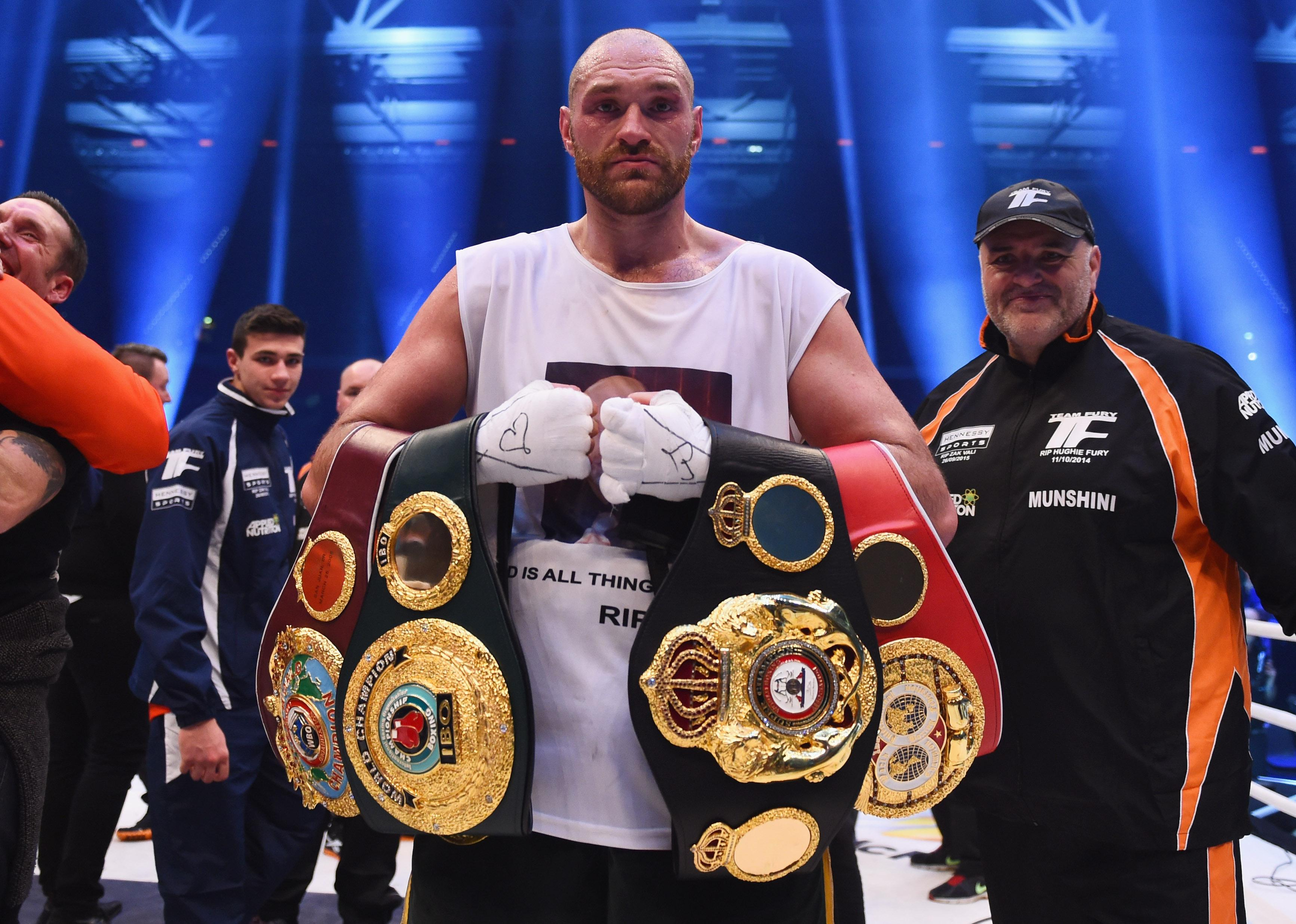 The Gypsy King once held the WBA, IBF and WBO heavyweight world titles but he relinquished the,m after a battle with mental health