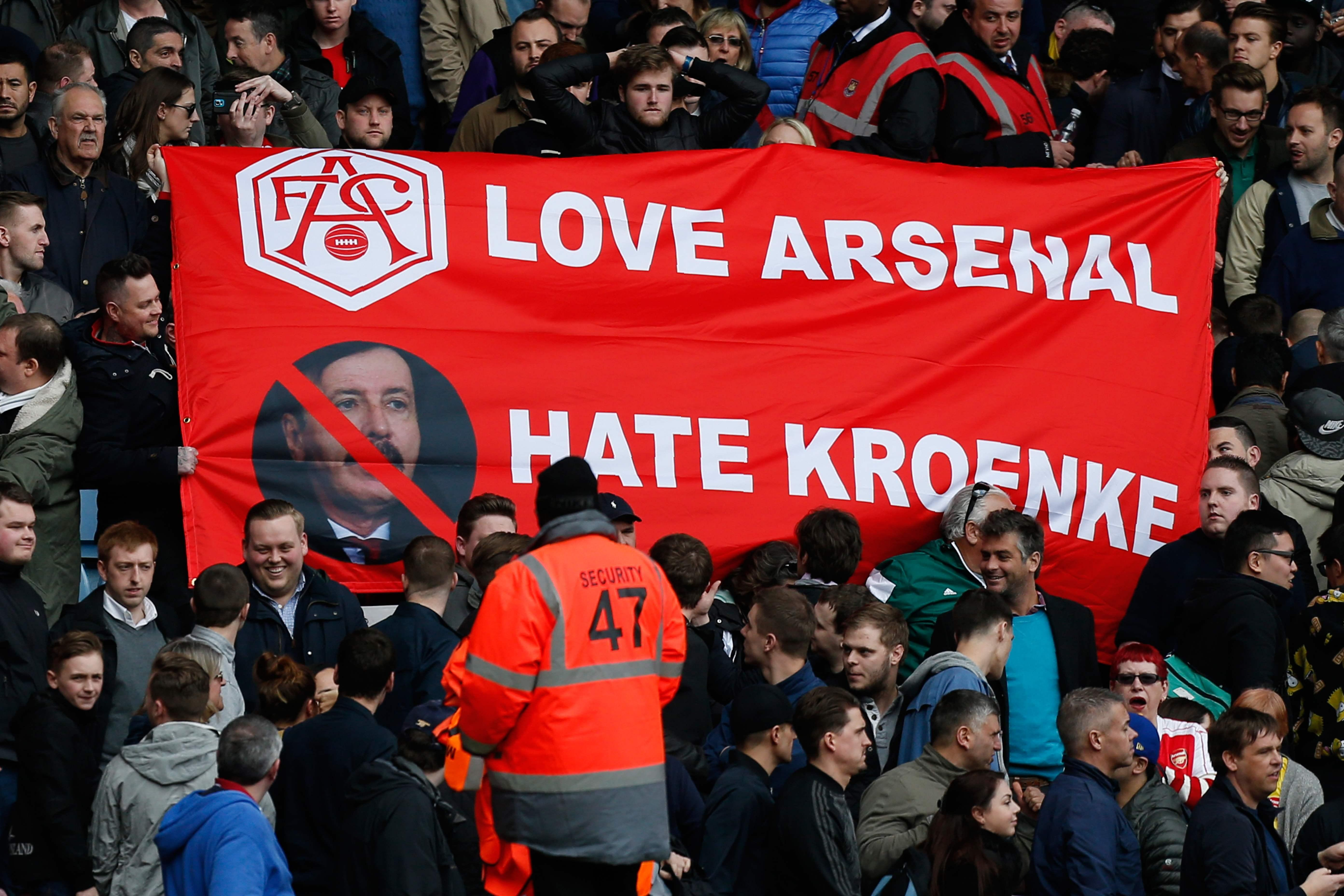 Arsenal fans are frustrated at Stan Kroenke for his investment levels in the club