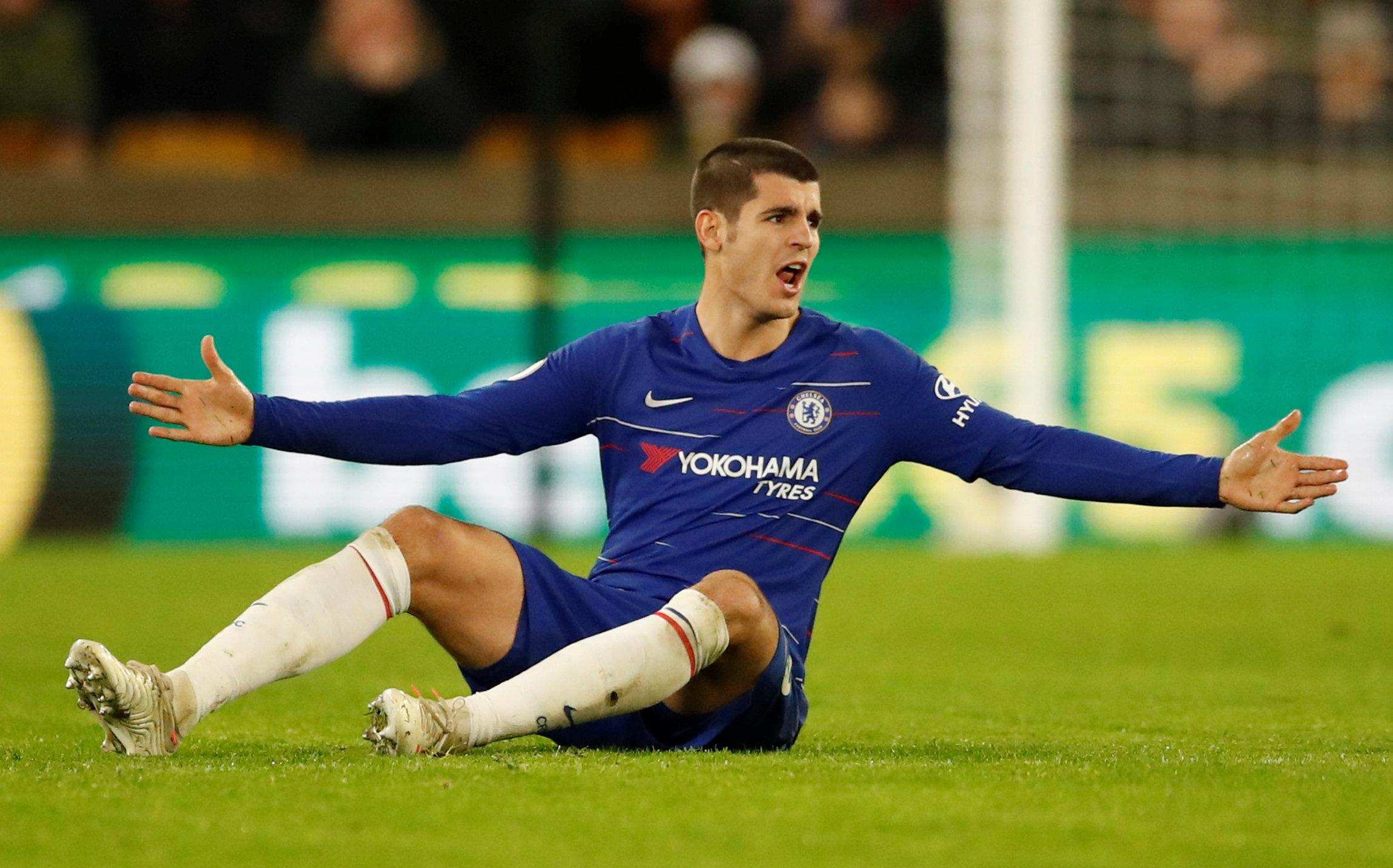 Morata, 26, is without a goal in the Premier League since scoring twice against Crystal Palace on November 4