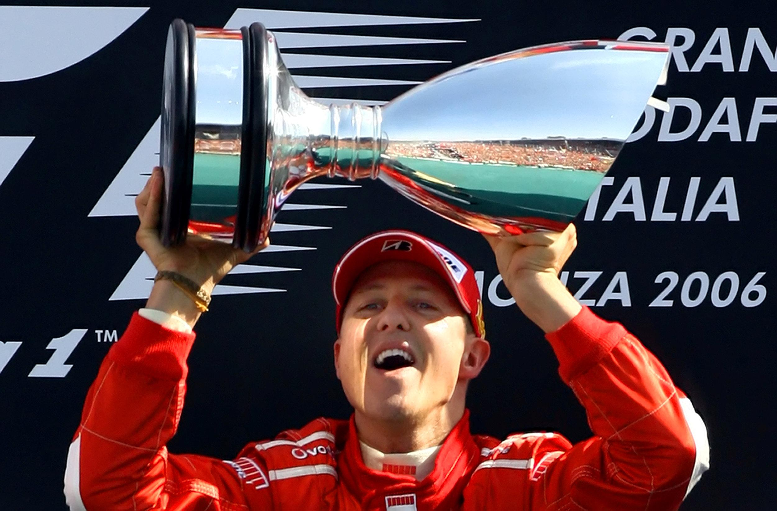 Schumacher won 91 races and won record-breaking seven F1 titles in his staggering career