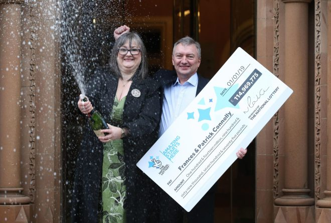 EuroMillions couple Frances and Patrick Connolly who scooped £115MILLION jackpot
