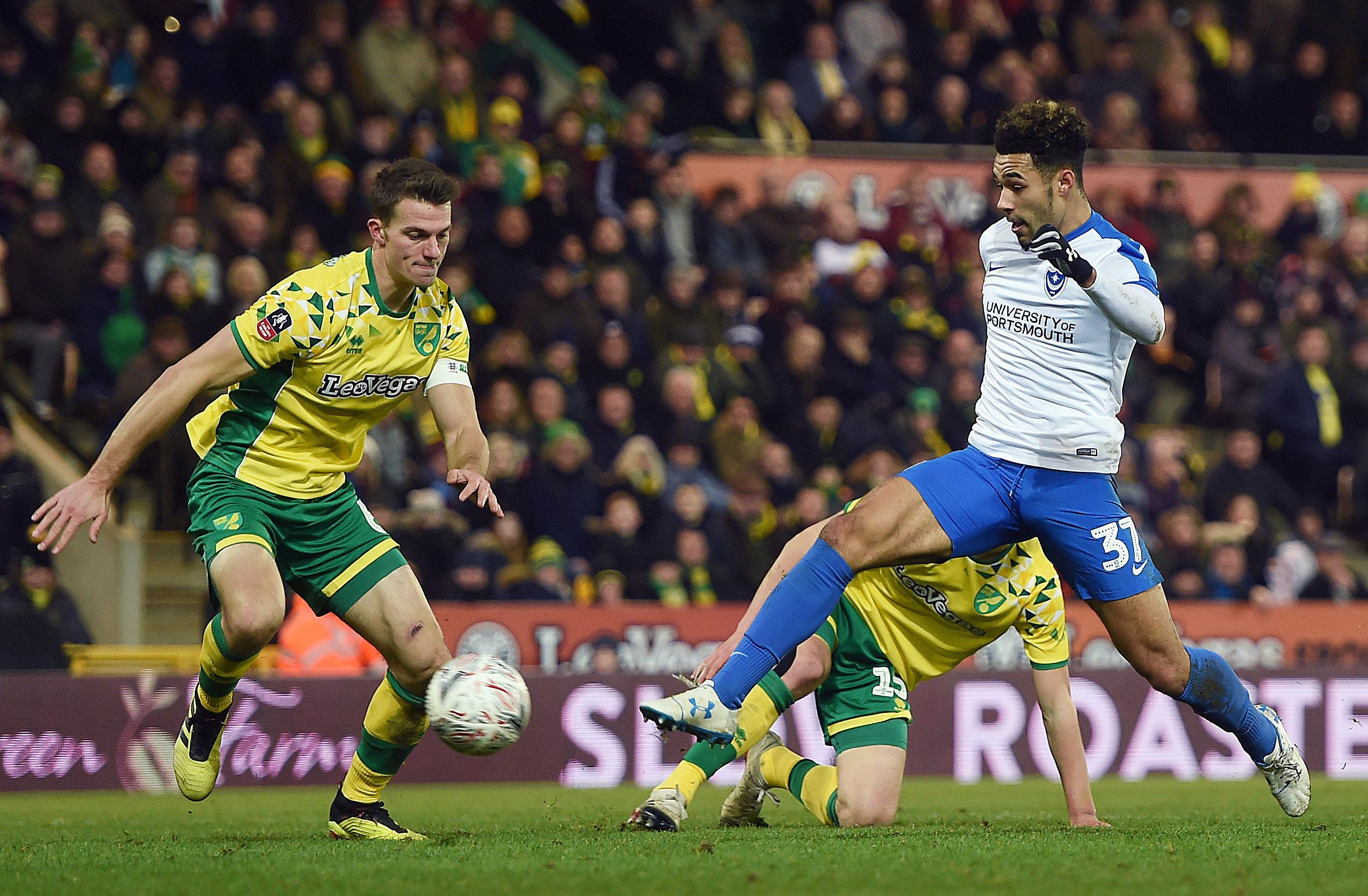 Green scored the winning goal as Pompey pulled off an FA Cup shock at Norwich last week