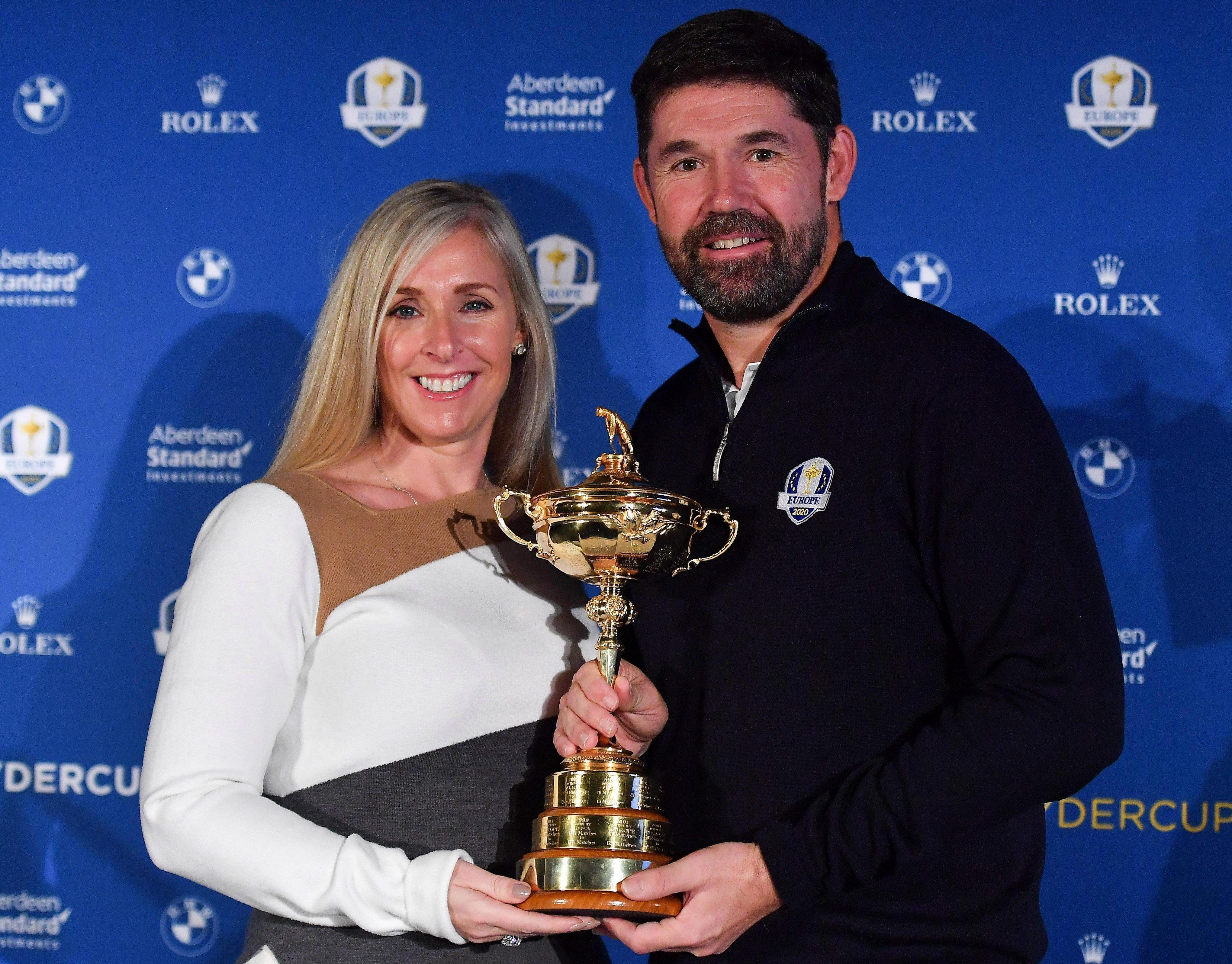 Padraig Harrington and his wife Caroline with the trophy