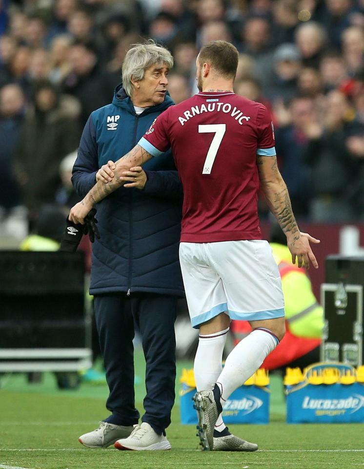 Marko Arnautovic is under contract at West Ham until 2022