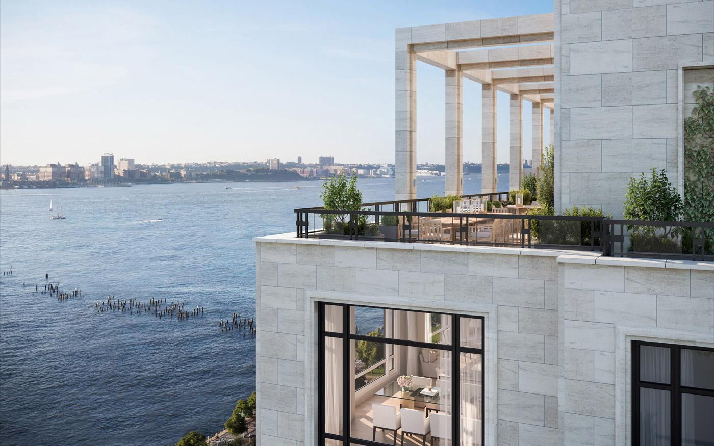 Lewis Hamilton's new home comes with amazing views of the Hudson