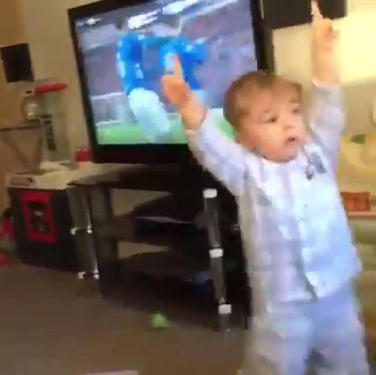 A young Rangers fan has gone viral after a video of him celebrating the winning goal against Celtic last month was watched over a million times