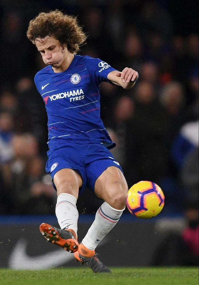 David Luiz was good one minute and then bad the next - typical of his Chelsea performances