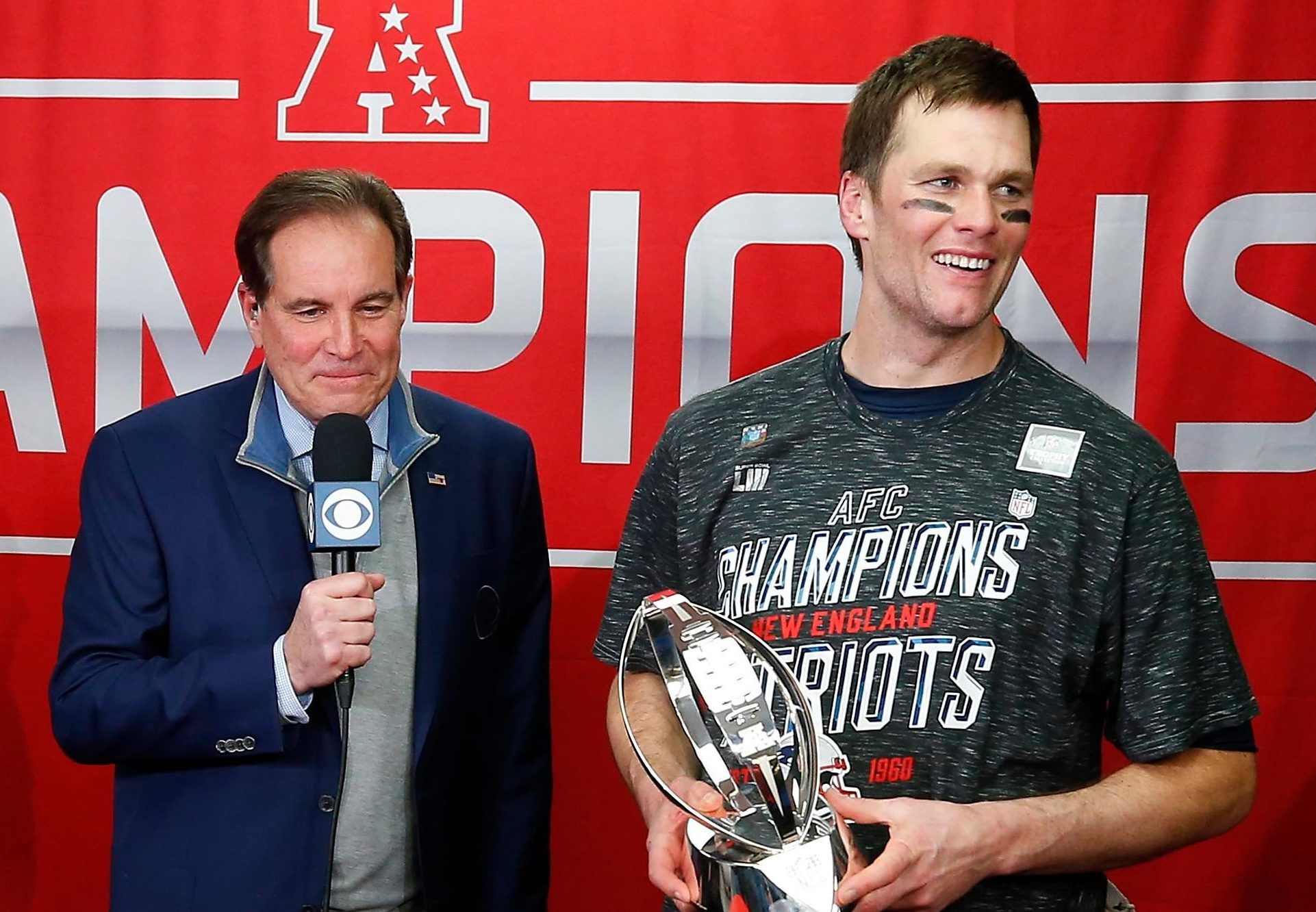 Tom Brady accidentally swore on live television after leading New England Patriots to the Super Bowl