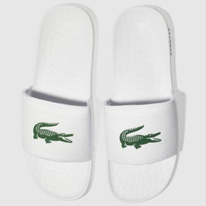 Lacoste sliders are designer shoes at a bargain price of just £25