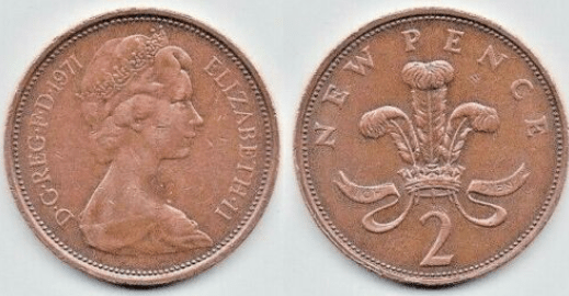 Do you have a 2p coin from 1971 in your pocket?