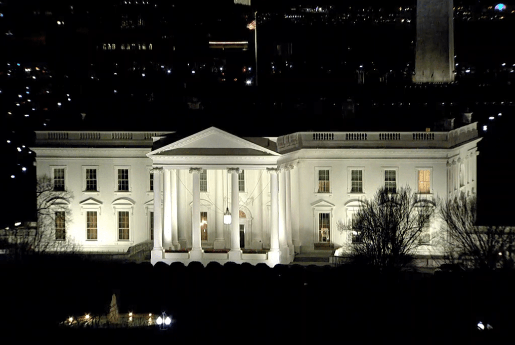 Donald Trump's address from the White House was broadcast live from the White House tonight