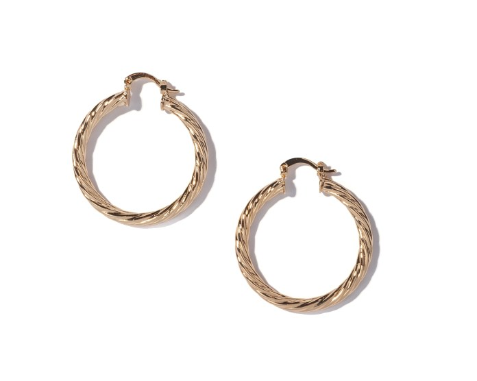 Mini gold hoops are the perfect addition to any jewellery box