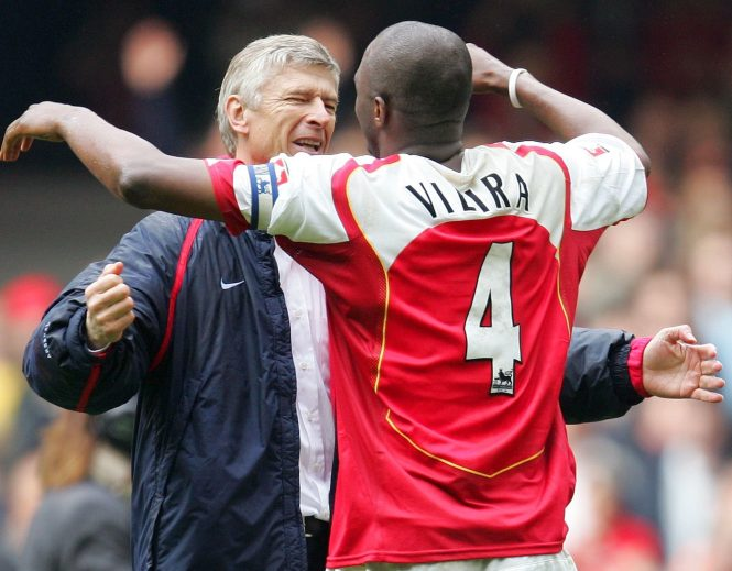 Ex-midfielder Patrick Vieira picked up valuable managerial tips at Arsenal under long-serving Arsene Wenger