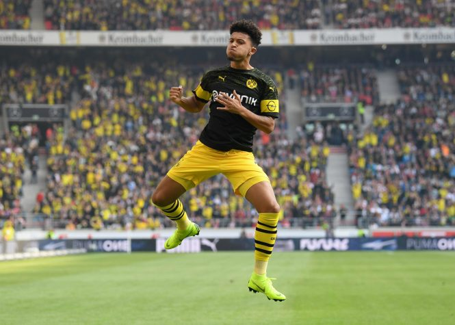 Sancho is the youngest player to have scored at eight Bundesliga goals
