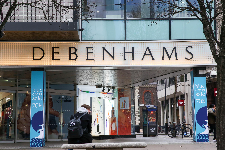 Debenhams stores are selling designer
