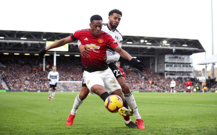 Christie came off the bench early in the second half but could not prevent a routine Manchester United win