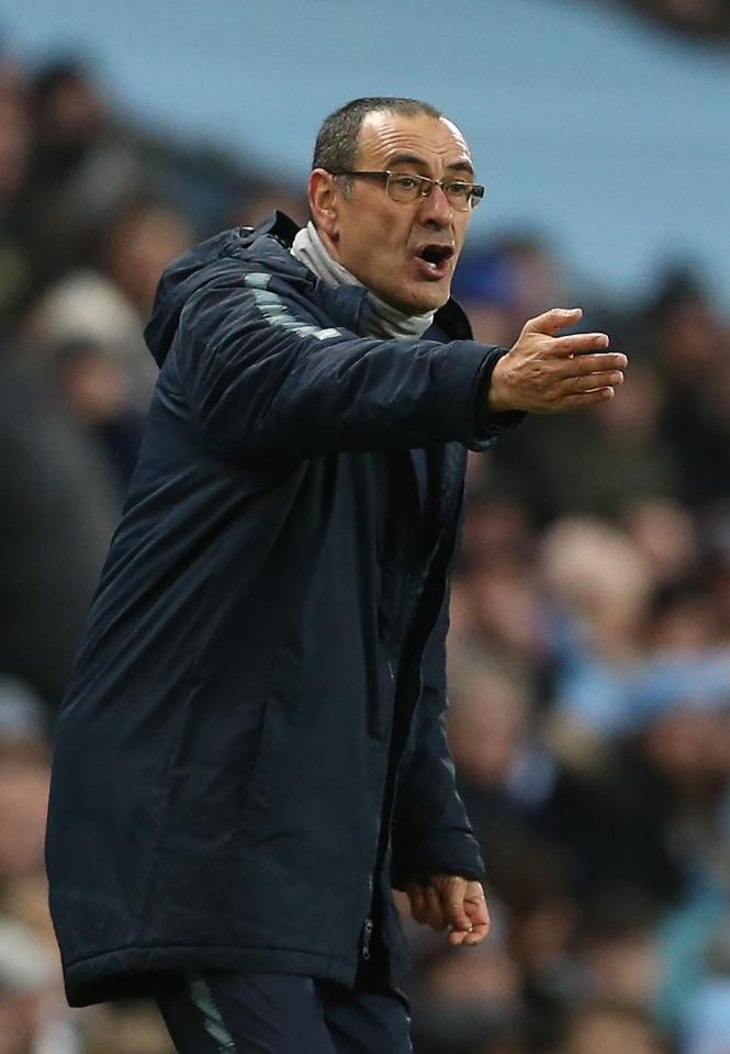 Stamford Bridge chief Maurizio Sarri is already under pressure, midway through his first season in charge