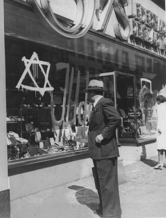 A Jewish shop is vandalised in Germany in 1939