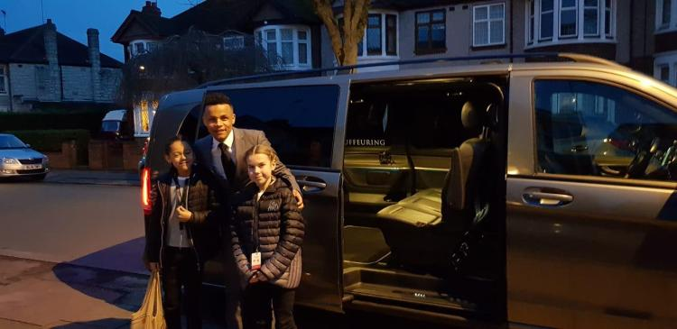 Christie laid on a chauffeur-driven Mercedes Vito limousine to take them to and from Craven Cottage