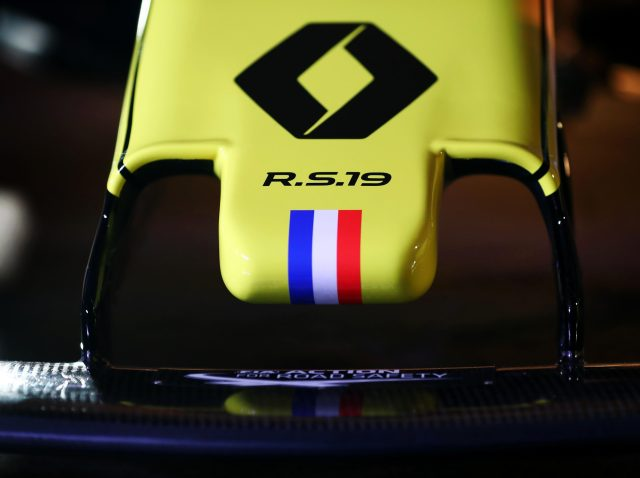 The nose has been intricately designed with a subtle French Tricolour