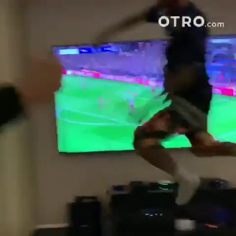 He celebrated wildly when Presnel Kimpembe volleyed home the opening goal