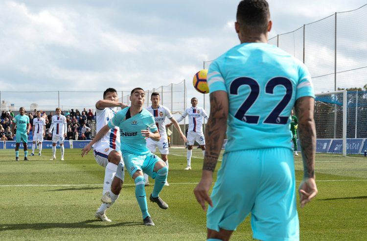 Almiron played the first half of the friendly against the Russian outfit