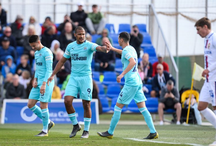 Newcastle went in to half-time against CSKA Moscow level at 1-1