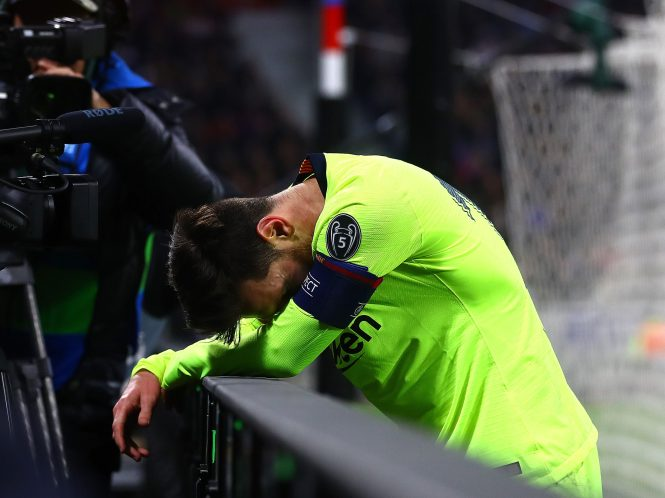 It was a frustrating night for Lionel Messi and Barcelona as they failed to score at Lyon