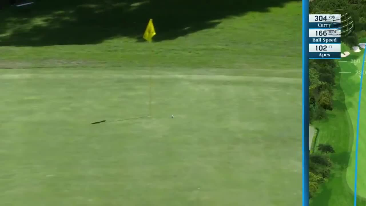 The ball rolled just inches past the cup before coming to a halt six feet away