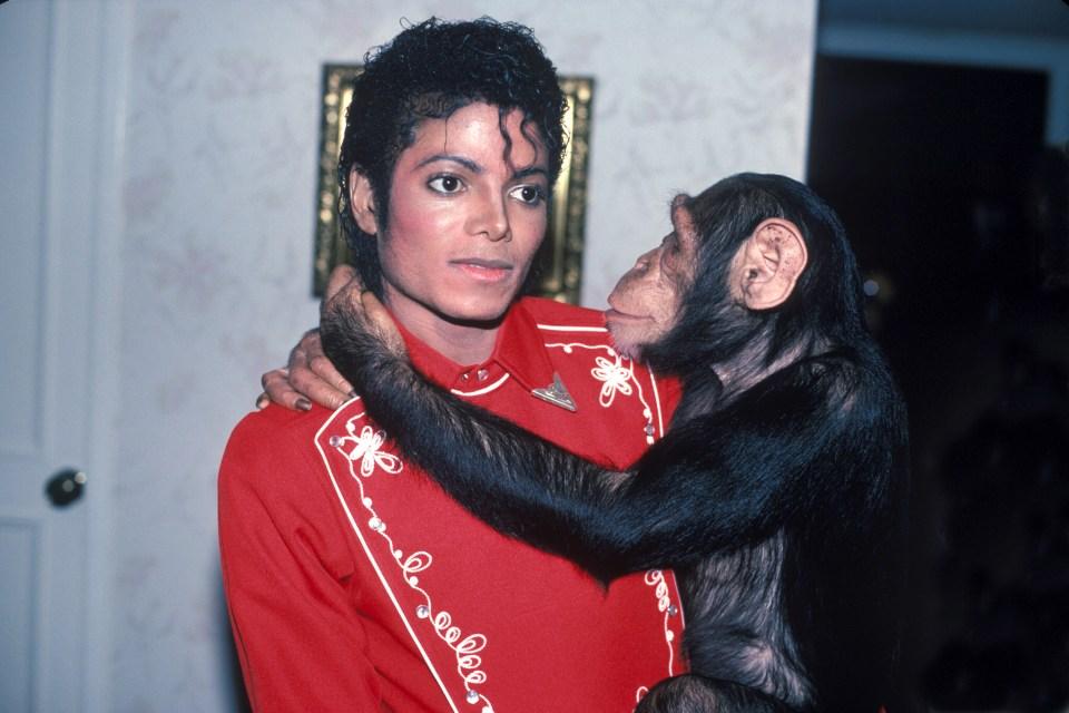 Best pals... Michael and Bubbles